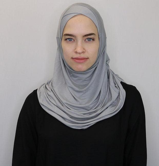 Modefa Instant Hijabs Gray Modefa One Piece Instant Practical Hijab – Gray