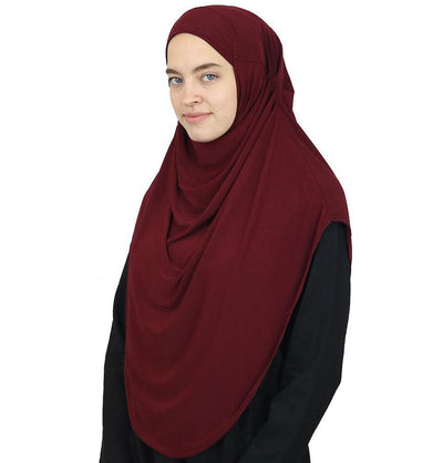 Modefa Instant Hijabs Maroon Modefa Long One Piece Instant Practical Hijab – Maroon