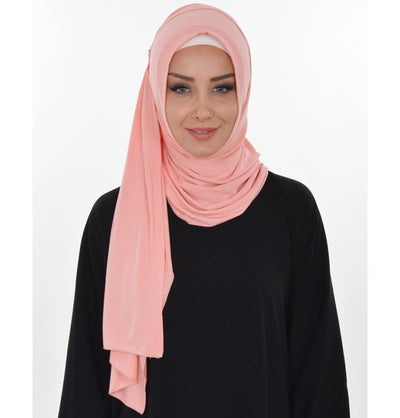 Practical Instant Jersey Hijab Shawl Powder