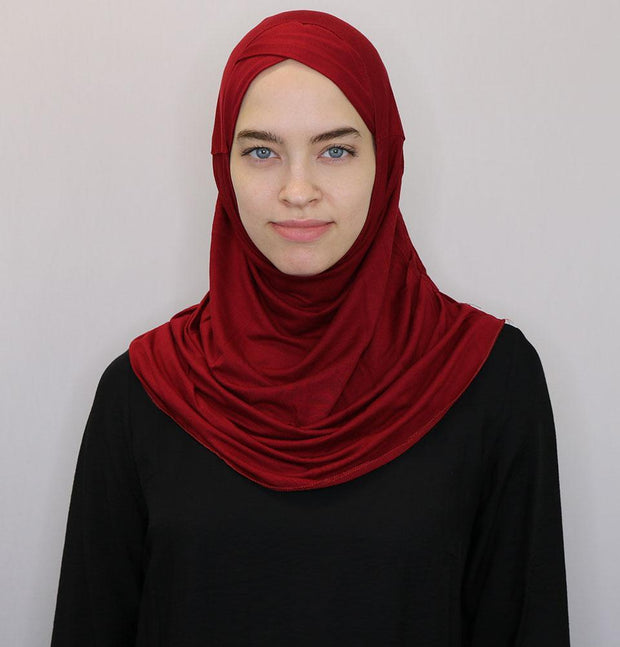 Modefa Instant Hijabs Red Modefa One Piece Instant Practical Hijab – Red