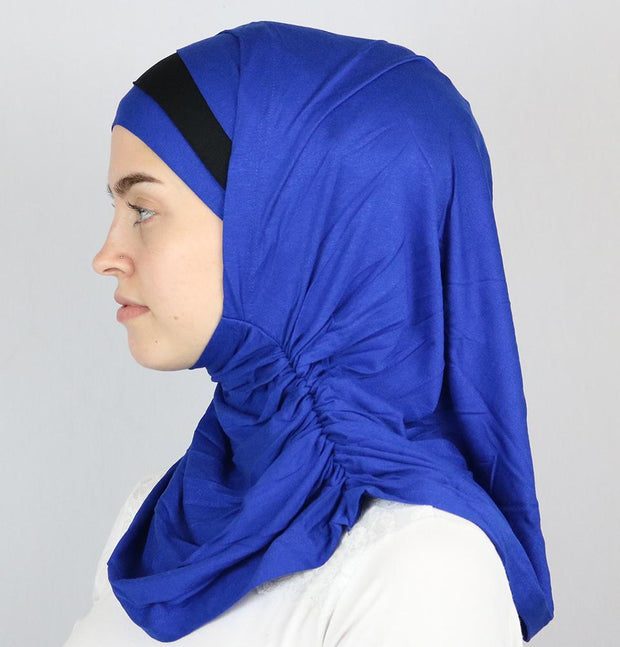Practical Instant Jersey Hijab B0008 Royal Blue