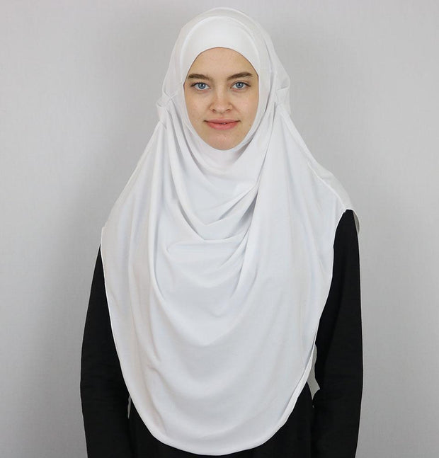 Modefa Instant Hijabs White Modefa Long One Piece Instant Practical Hijab – White