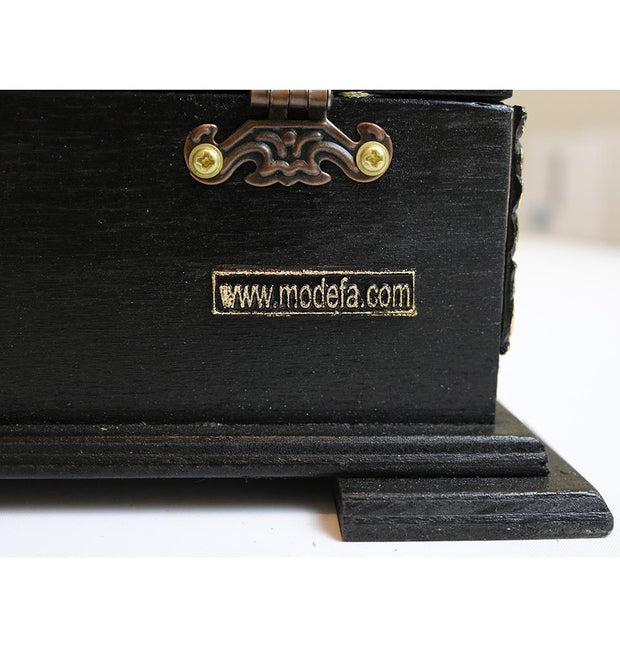 Handmade Wooden Luxury Quran Display Box with Quran - Black