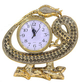 Modefa Islamic Decor Islamic Table Decor Clock - Waw Tulip with 99 Names of Allah Gold