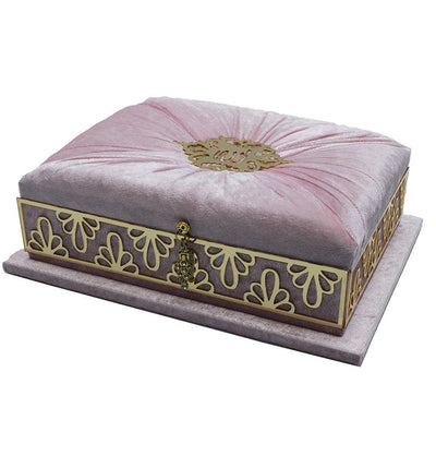 Modefa Islamic Decor Pink Holy Quran in Keepsake Velvet Gift Case - Pink