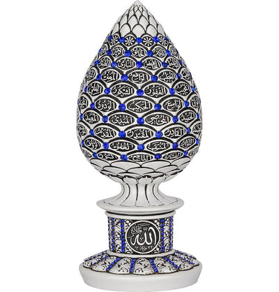 Modefa Islamic Decor White/Blue Islamic Table Decor 99 Names of Allah Egg White/Blue 1638