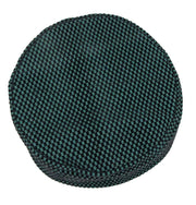 Islamic Men's Kufi Hat - Checkered Green & Black