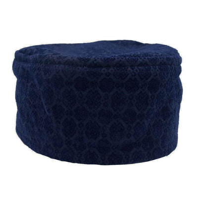 Islamic Men's Kufi Hat- Geometric Blue