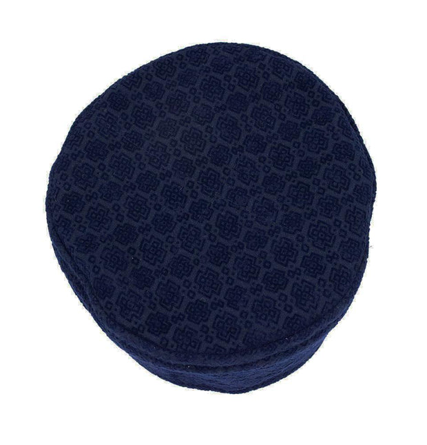 Modefa Kufi Islamic Men's Kufi Hat- Geometric Blue