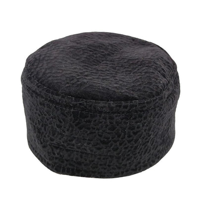 Modefa Kufi Islamic Men's Kufi Hat - Black Velvet