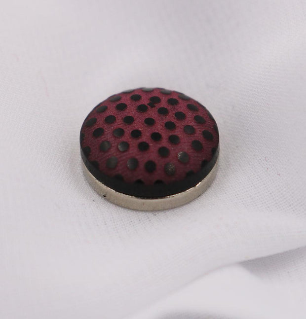 Modefa Magnetic pins Dark Pink / Black Magnetic Hijab Pin Polka Dot Dark Pink
