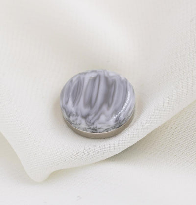 Modefa Magnetic pins Grey/White Marbled Magnetic Hijab 'Pin' - Grey/White