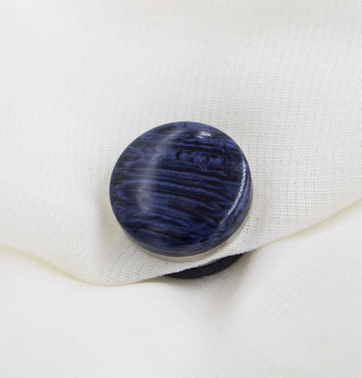 Modefa Magnetic pins Navy Marbled Magnetic Hijab 'Pin' - Navy
