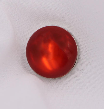 Solid Glossy Magnetic Hijab Pin - Red