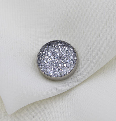 Modefa Magnetic pins Silver Bejeweled Magnetic Hijab 'Pin' - Silver