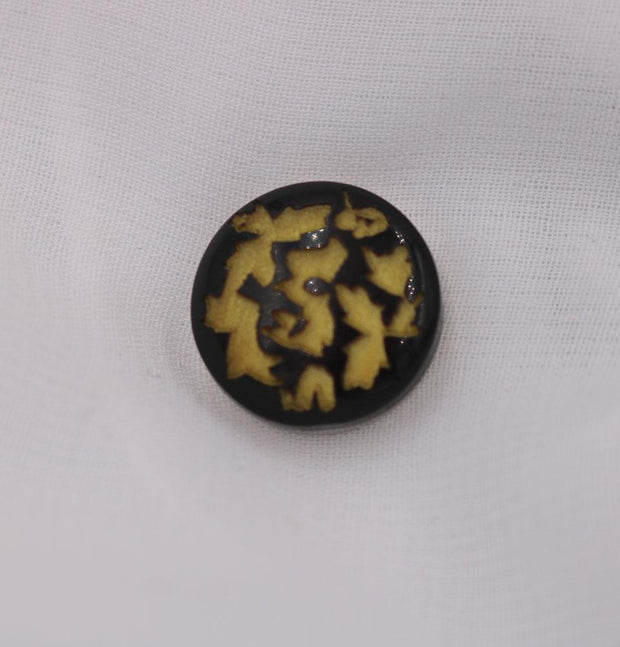 Modefa Magnetic pins Yellow / Black Abstract Magnetic Hijab Pin Yellow