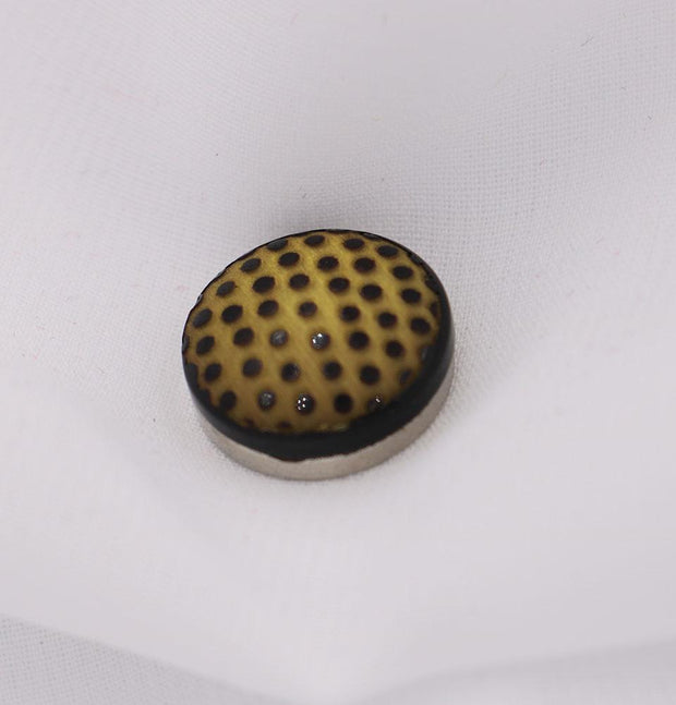 Modefa Magnetic pins Yellow / Black Magnetic Hijab Pin Polka Dot Yellow