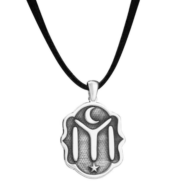 Modefa Necklace Sterling Silver & Leather Ertugrul IYI Necklace