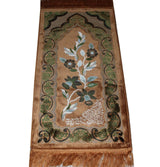 Modefa Prayer Rug Beige Child Velvet Floral Islamic Prayer Rug - Beige