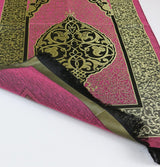 Modefa Prayer Rug Chenille Ottoman Islamic Prayer Mat - Pink