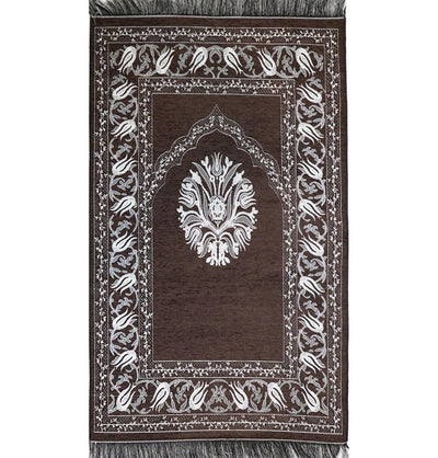 Modefa Prayer Rug Chenille Tulip Prayer Mat - Brown