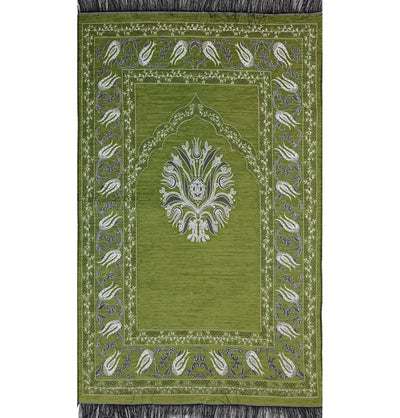Chenille Tulip Prayer Mat - Light Green