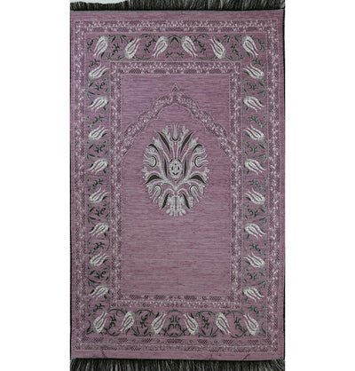 Chenille Tulip Prayer Mat - Light Pink