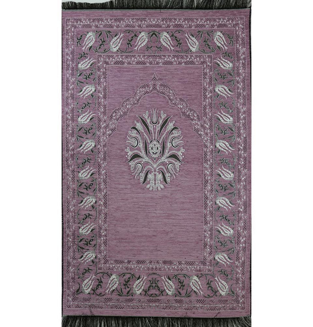 Modefa Prayer Rug Chenille Tulip Prayer Mat - Light Pink