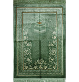 Modefa Prayer Rug Double Plush Wide Islamic Prayer Rug - Kaba Light Green