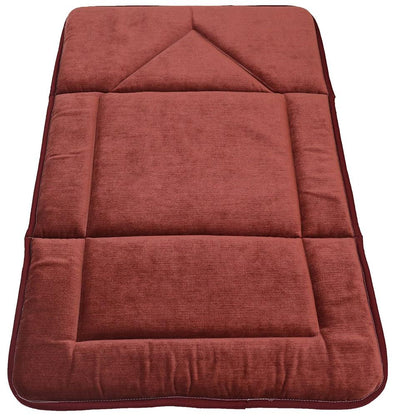Modefa Prayer Rug Foldable Orthopedic Foam Islamic Prayer Rug - Burgundy