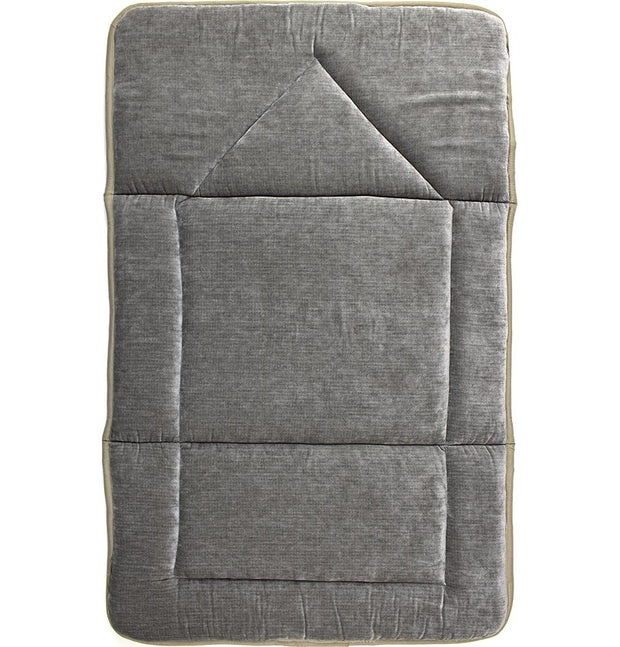 Modefa Prayer Rug Foldable Orthopedic Foam Islamic Prayer Rug - Grey