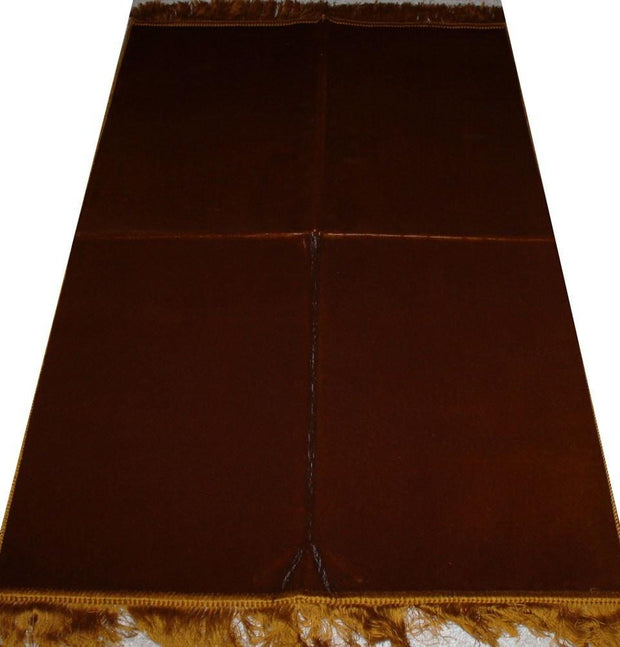 Modefa Prayer Rug Gold Solid Simple Velvet Prayer Rug - Gold