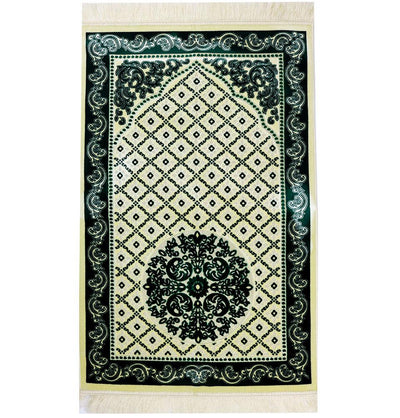 Modefa Prayer Rug Green 2 Amber Velvet Islamic Prayer Rug - Green