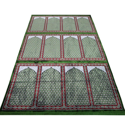 Modefa Prayer Rug Green Wide 12 Person Masjid Islamic Prayer Rug - Green