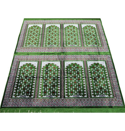 Modefa Prayer Rug Green Wide 8 Person Masjid Islamic Prayer Rug - Green