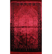 Luxury Velvet Islamic Prayer Rug - Red