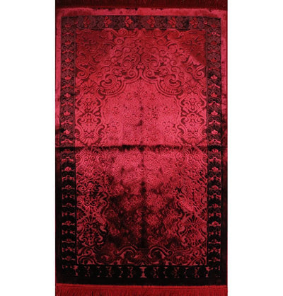 Modefa Prayer Rug Luxury Velvet Islamic Prayer Rug - Red