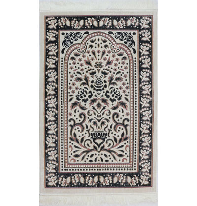Modefa Prayer Rug Marmara Velvet Islamic Prayer Rug - Black / Pink