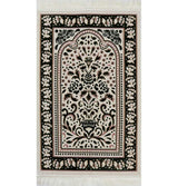 Modefa Prayer Rug Marmara Velvet Islamic Prayer Rug - Green / Pink