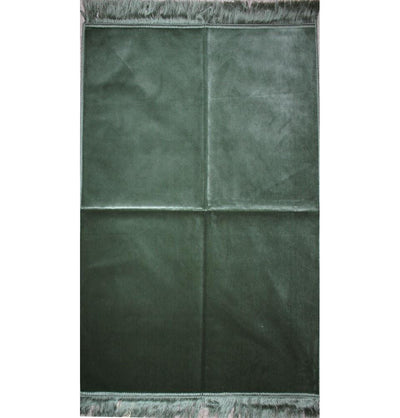 Modefa Prayer Rug Solid Simple Velvet Prayer Rug - Mint Green - Modefa