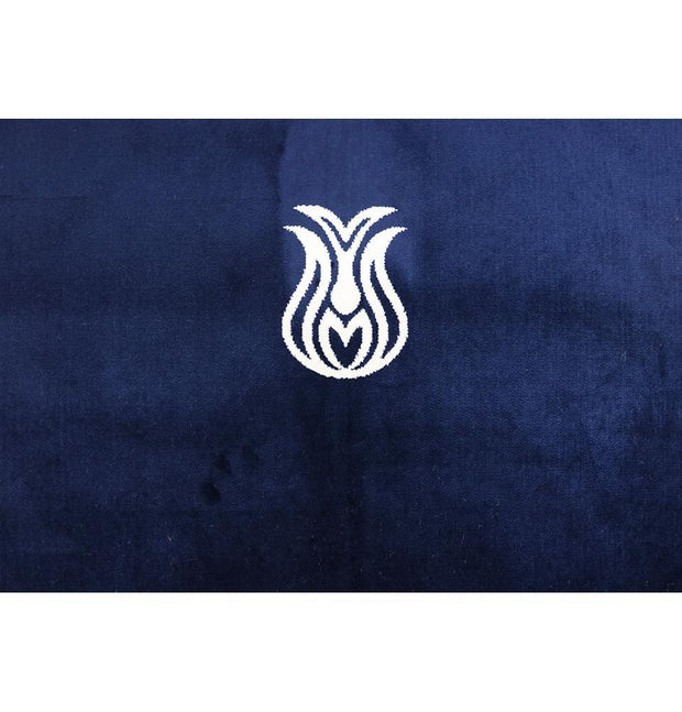 Modefa Prayer Rug Navy Blue Solid Simple Velvet Prayer Rug with Tulip - Navy Blue