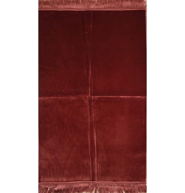 Modefa Prayer Rug Solid Simple Velvet Prayer Rug - Rose Pink - Modefa