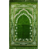 Modefa Prayer Rug Plush Ipek Islamic Prayer Rug Bright Green Floral