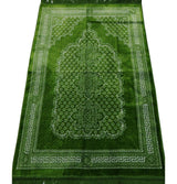 Modefa Prayer Rug Plush Ipek Islamic Prayer Rug - Geometric Floral Bright Green