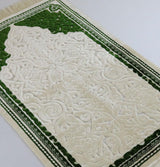 Modefa Prayer Rug Plush Velvet Islamic Prayer Rug Sina - Simple Green