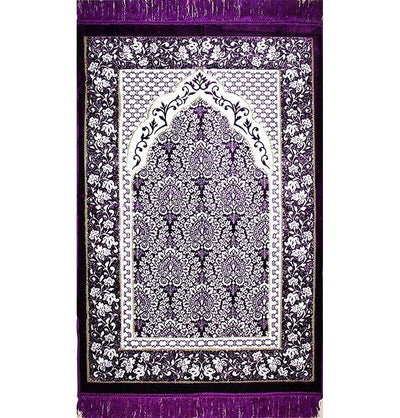 Modefa Prayer Rug Purple Plush Ipek Islamic Prayer Rug Purple