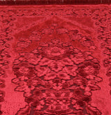 Modefa Prayer Rug Red Luxury Velvet Islamic Prayer Rug - Red
