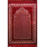 Modefa Prayer Rug Red Velvet Wide Extra Large Prayer Rug Traditional Red