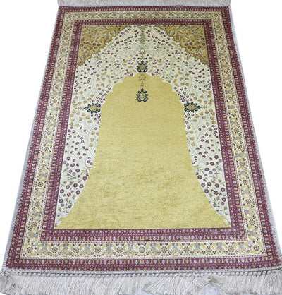 Modefa Prayer Rug Rolled Foam Islamic Prayer Rug - Ottoman Floral