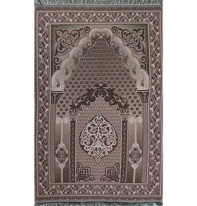 Shimmery Thin Geometric Arch Islamic Prayer Mat - Pink